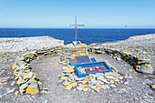 War memorial, Sea Lion Island, Falkland Islands, South America