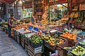 Vucciria market, Palermo, Sicily, Italy, Europe,