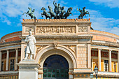 Politeama Theater, Palermo, Sicily, Italy, Europe