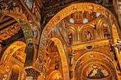 Cappella Palatina, Palastkapelle, Palermo, Sizilien, Italien, Europa