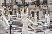 Piazza Pretoria, Palermo, Sizilien, Italien, Europa,