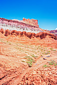 The Castle rock formation, Capitol Reef National Park, Utah, USA, North America