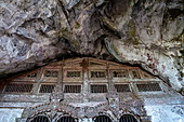 Entrance to the lower cave in the Pak Ou Caves, Pak Ou, Luang Prabang Province, Laos, Asia