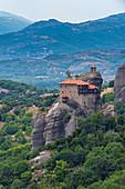 Holy Monastery of St Nicholas Anapafsas, UNESCO World Heritage Site, Meteora Monasteries, Greece, Europe