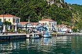 The port of Karlovasi, Samos, Greek Islands, Greece, Europe