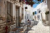 Parikia town empty street, Parikia, Paros, Cyclades Islands, Greek Islands, Greece, Europe