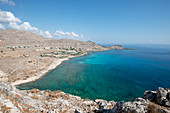 View of Navarone Bay, Rhodes, Dodecanese, Greek Islands, Greece, Europe