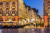 France, Meurthe et Moselle, Nancy, street Stanislas and Place Stanislas or former Royal Place listed as World Heritage by UNESCO built by Stanislas Leszczynski king of Poland and last Duke of Lorraine in the 18th century