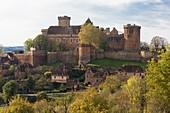 France, Lot, Prudhomat, Castelnau Bretenoux castle