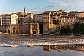 France, Tarn, Albi, houses on the Tarn river, listed as World Heritage by Unesco