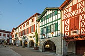 France, Pyrenees Atlantique, Pays Basque, La Bastide Clairence, labeled The Most Beaul Villages of France