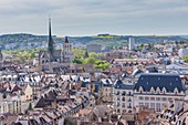 France, Cote d'Or, Dijon, area listed as World Heritage by UNESCO, Saint-B?nigne cathedral and downtown seen from the tower Philippe le Bon