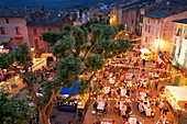 France, Var, Dracenie, La Motte, Place Clemenceau, The 7th Night of the Winegrowers