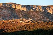 France, Var, Dracenie, Bargeme, ranked Most Beaul Villages of France, le plus haut village du Var, Montagne de Brouis