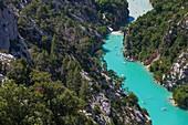 France, Alpes-de-Haute-Provence, Var, Verdon Regional Nature Park, La Palud-sur-Verdon, Aiguines, Gorges du Verdon inlet
