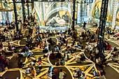 France, Paris, Atelier des Lumieres, play of light on Hundertwasser and Klimt, an achievement Gianfranco Iannuzzi, Renato Gatto, Massimiliano Siccardi