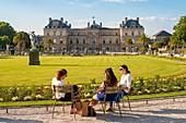 France, Paris, Saint Michel district, the Luxembourg Gardens, the Senate Palace