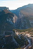 France, Alpes de Haute-Provence, Rougon, the Verdon canyon seen from Roubion
