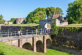 France, Pas de Calais, Montreuil sur Mer, bridge to the citadel (16th century)