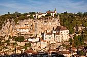 France, Lot, Haut Quercy, Rocamadour, a stop on el Camino de Santiago