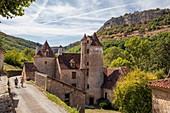 France, Lot, Haut Quercy, Autoire, labelled Les Plus Beaux Villages de France (The Most Beaul Villages of France), Limargue castle