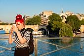 France, Paris, the banks of the Seine classified UNESCO, the Gateway Arts