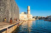 France, Bouches du Rhone, Marseille, Mucem and Fort Saint Jean