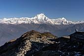 View of the Dhaulagiri from the Khopra Danda hut, Pokhara, Nepal