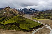 Colored hills in the Icelandic highlands, Landmannalaugar, Iceland