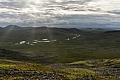 View over the vastness of the Russian tundra, Polarural, Komi Republic, Russia