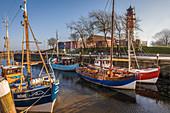 Fishing cutter in the old port of Büsum, North Friesland, Schleswig-Holstein