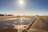 Path to the beach in St. Peter-Ording, North Friesland, Schleswig-Holstein