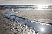 Wattlandschaft am Strand in St. Peter-Ording , Nord-Friesland, Schleswig-Holstein