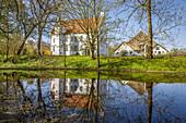 Hoyerswort manor house in Oldenswort, North Friesland, Schleswig-Holstein