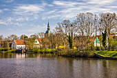 View of Friedrichstadt, North Friesland, Schleswig-Holstein