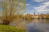 Blick auf Friedrichstadt, Nord-Friesland, Schleswig-Holstein
