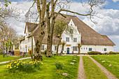 Roter Haubarg bei Witzwort, Nord-Friesland, Schleswig-Holstein