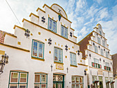 Old houses in the old town of Toenning, North Friesland, Schleswig-Holstein