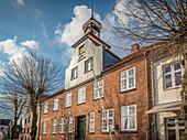 Harbor house in Tönning, North Friesland, Schleswig-Holstein