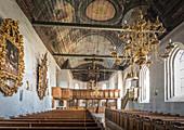 St. Laurentius Church on the market square of Toenning, North Friesland, Schleswig-Holstein
