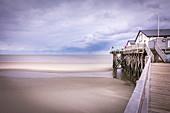 Beach bar on the beach of St. Peter-Ording, North Friesland, Schleswig-Holstein