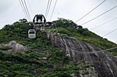 Sky Gondola cable car on Sugar Loaf Mountain (Pao de Acucar), Rio de Janeiro, Rio de Janeiro, Brazil, South America