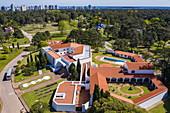 Aerial view of Punta del Este Ralli Museum (Museo Ralli), Punta del Este, Maldonado Department, Uruguay, South America