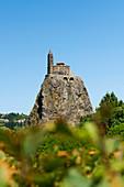 Saint-Michel d'Aiguilhe, church on the rock, Le Puy en Velay, Haute-Loire department, Auvergne-Rhone-Alpes, France