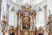 Basilica of St. Alexander and St. Theodor of the Benedictine Abbey of Ottobeuren, Allgäu, Bavaria, Germany