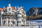 Historic Gasthaus Alpenrose am See near Hohenschwangau Castle, Schwangau, Allgäu, Bavaria, Germany