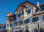 Historic Gasthaus Zur Alpenrose near Hohenschwangau Castle, Schwangau, Allgäu, Bavaria, Germany