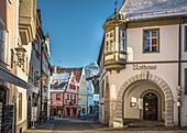 Historic town hall in the old town of Füssen, Allgäu, Bavaria, Germany