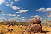 Unusual rocks in the outback, at Pine Creek, Northern Territory, Australia