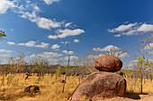 Ungewöhnliche Felsen im Outback, bei Pine Creek, Northern Territory, Australien